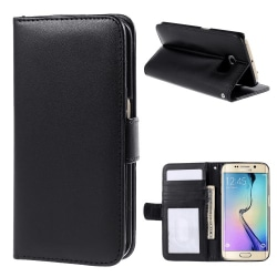 Plånboksfodral till Samsung Galaxy S6 Edge, Svart
