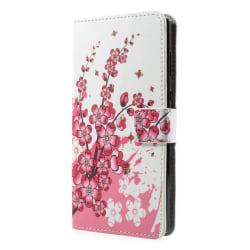 Plånboksfodral till Sony Xperia L1 - Rosa plommonträd