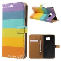 Regnbåge - Plånboksfodral till Galaxy Note 5