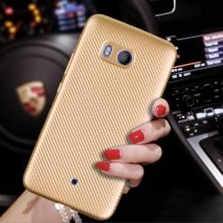 Skal i kolfiber-look för HTC U11 - Guld