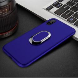 Skal med magnetisk ring till iPhone X - Blå