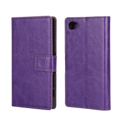 Slätt Plånboksfodral till Xperia Z5 Compact, Lila