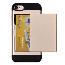 Smart kortplats TPU-Skal till iPhone 7 - Guld