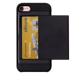 Smart kortplats TPU-Skal till iPhone 7 - Svart