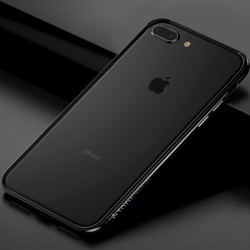TOTUDESIGN Tålig Bumper för iPhone 7-8-Plus - Svart