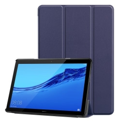 Tri-fold PU Fodral till Huawei MediaPad T5 10 - Mörkblå