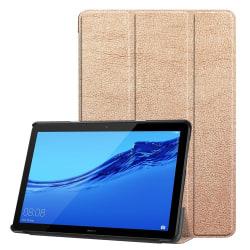 Tri-fold PU Fodral till Huawei MediaPad T5 10 - Rosé Guld