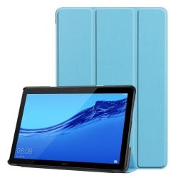 Tri-fold PU Fodral till Huawei MediaPad T5 10 - Turkos