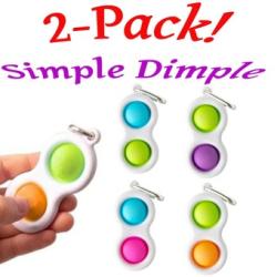2-Pack Mini Simple Dimple, Fidget Toys