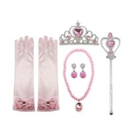 Elsa, Frost 2 set med tiara, handskar, stav