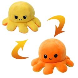 Vändbart mjukisdjur bläckfisk, Gul/Orange