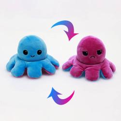 Vändbart mjukisdjur, Mörk rosa/ Blå