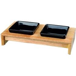 skålset, keramik / trä