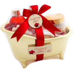 Cranberry Love Bath Set with Bath Gold 6 Pieces