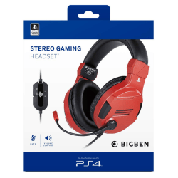 Gaming headset with official PS4 license, red - Playstation 4