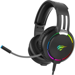 Headset for PS4, RGB Gaming Headset for PC, Xbox One black