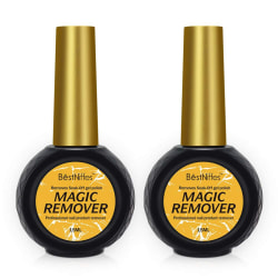 Magic Drink-Off Gel Nail Polish Remover 15 ml (2 Pack)