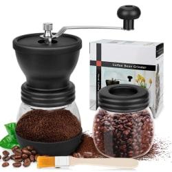 Manuell kaffekvarn, premium justerbar grovhet keramisk burr