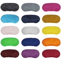 Pack of 15 Multi Color Eye Shadow Travel Sleeping EyeMask