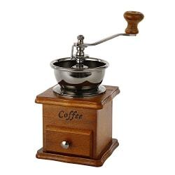 Vintage manuell kaffekvarn keramisk konisk borr bärbar handvev