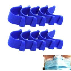 10 x Anti-dim näsklämma för munskyddsmask Blå