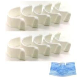 10 x Anti-dim näsklämma för munskyddsmask Vit