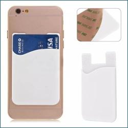 Silikon socka plånbokskortklistermärke vit Vit one size