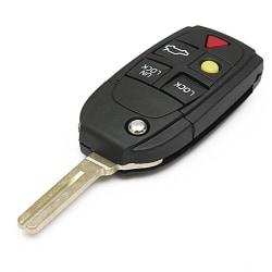 5 Knappar ersättning fjärrnyckel skal för Volvo Svart