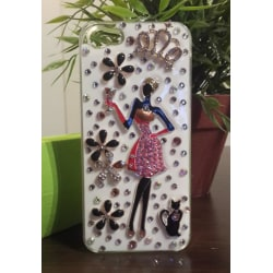 Apple Iphone 4 4S Skal Fodral Case 3D Cover (Diva) Vit