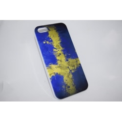 Apple Iphone 4 4S Skal Fodral Skydd Sverige Flag Blå