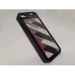 Apple Iphone 5 5S Fodral Skal Case Med Beads 7 Bars Svart Svart