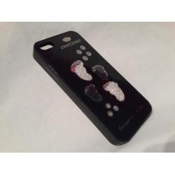 Apple Iphone 5 5S Fodral Skal Case Med Beads Feets Svart Svart