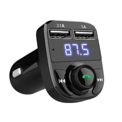Bluetooth bil FM-sändarmodulator MP3 trådlös 3.1A Svart