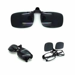 Flexibel UV-dagsklämma på flip up-glasögon TR10 Svart M