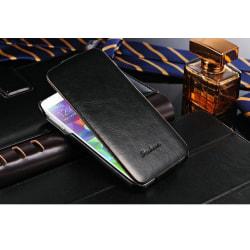 Galaxy S5 fodral skal lyx flip läder svart Svart