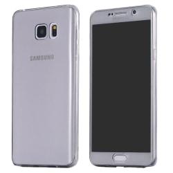 Galaxy S6 komplett mobil 360 mjuk skal case svart Svart
