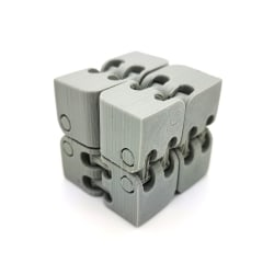 Infinity fidget kub stress / ångest lättnad spel pussel Grey Grå