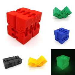 Infinity fidget kub stress / ångest lättnad spel pussel Red Röd