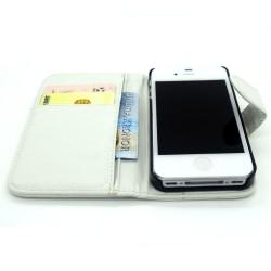 Iphone 4 4S Fodral Plånbok Skal Cross Case Vit Vit