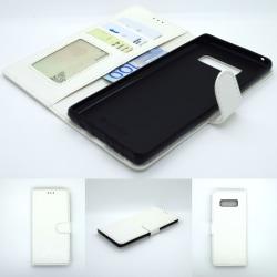 Note 8 plånbok fodral skydd sky case vit Vit
