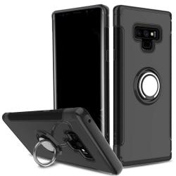Samsung Note 9 hybrid armor skal magnetic case svart Svart