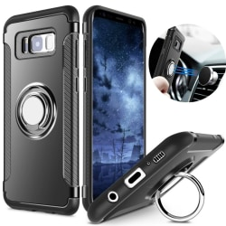 Samsung S8 hybrid armor skal magnetic case svart Svart