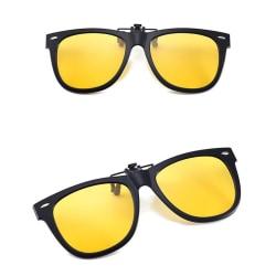 Solglasögon klämmer på / flip up polariserade UV-glasögon Gul L