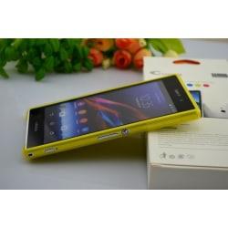 Sony Xperia Z1 L39h Skydd Skal Case Gul Gul