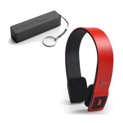 Audiosonic Bluetooth hörlurar + Powerbank 2000mAh