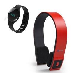 Audiosonic Bluetooth hörlurar + STREETZ Fitnessklocka