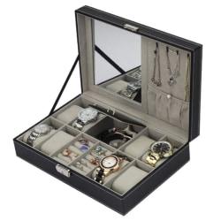 Klock och Juvelbox med spegel