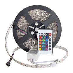 RGB LED list 5 meter IP65 - Med Fjärrkontroll