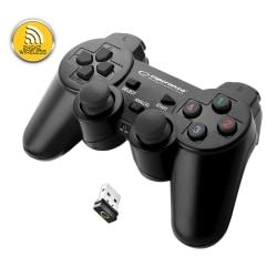 TRÅDLÖS SPELKONTROLL PS3/PC EGG108K - USB GLADIATOR SVART/SVART