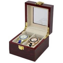 Watchbox klockbox wood / Trä 2 klockor